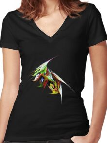 Fantails Women's Fitted V-Neck T-Shirt