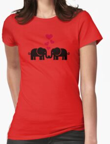 Elephants love red hearts T-Shirt
