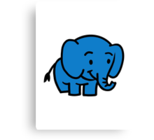 Comic elephant Canvas Print