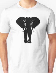 Black elephant Unisex T-Shirt