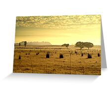 Dry Pasture,Mt Duneed Greeting Card