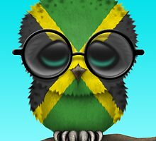 Nerdy Jamaican Baby Owl on a Branch by Jeff Bartels