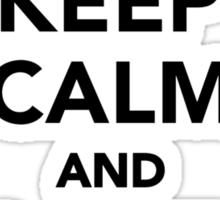 Keep calm and love elephants Sticker