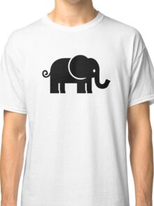 Black comic elephant Classic T-Shirt