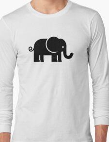Black comic elephant Long Sleeve T-Shirt