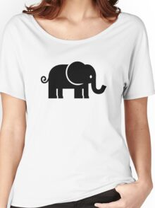 Black comic elephant Women's Relaxed Fit T-Shirt