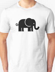 Black comic elephant Unisex T-Shirt