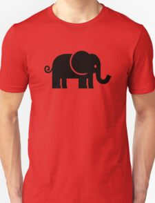 Black comic elephant T-Shirt