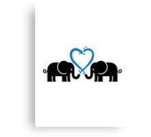 Elephants heart Canvas Print