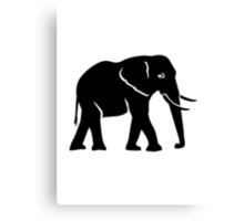 Black elephant Canvas Print
