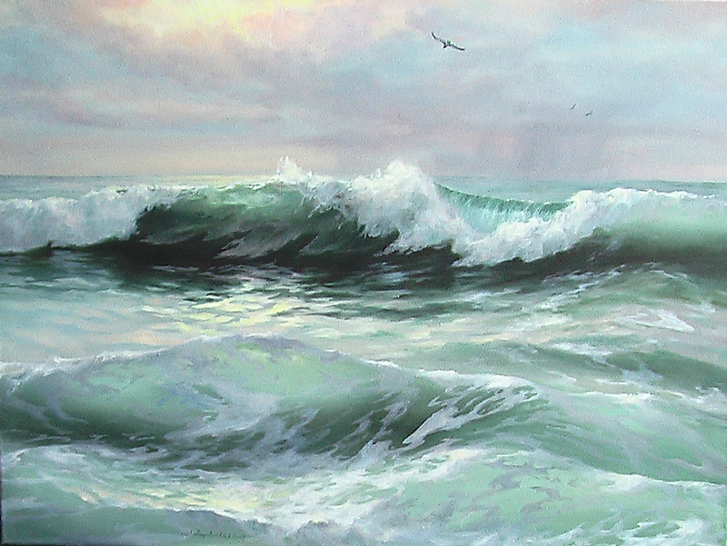 The sun and sea by Sokolovskaya
