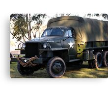 ARMY TRUCK Canvas Print