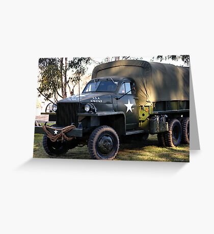 ARMY TRUCK Greeting Card