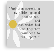 Looking for Alaska Flower + Quote Canvas Print