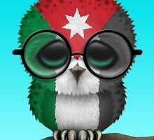 Nerdy Jordanian Baby Owl on a Branch by Jeff Bartels