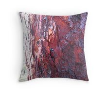 Red beads... Throw Pillow