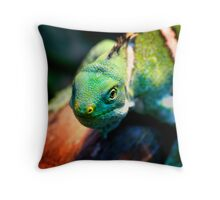 Green and mean! Throw Pillow