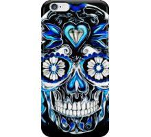 Sugar Skull Blue iPhone Case/Skin