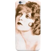 Clara Bow digital watercolor iPhone Case/Skin