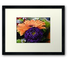 Peach and Purple Framed Print