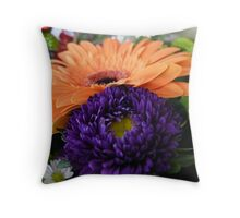 Peach and Purple Throw Pillow