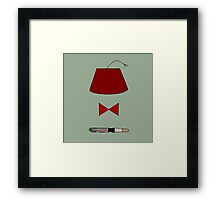 11th Doctor Minimalist Piece Framed Print