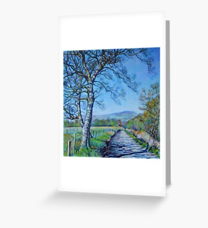 Down a Different Road Greeting Card