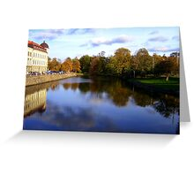 Autumn Reflections in Sweden Greeting Card