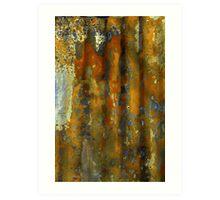 rusty piece of iron. Art Print
