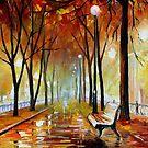Golden Park — Buy Now Link - www.etsy.com/listing/156914623 by Leonid  Afremov