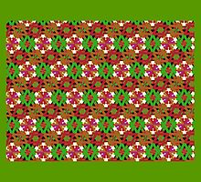 FESTIVE MULTICOLOR, geometric design, print textile art by ackelly4
