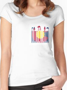 Colorful Colorado: True Colour Women's Fitted Scoop T-Shirt