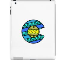 Colorado Tribal Flag: Blues iPad Case/Skin