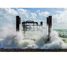 West Pier Splash Photographic Print