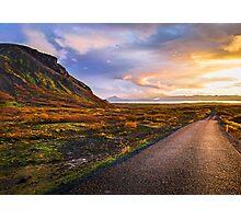 Insanely Beautiful Mountain Sunset Photographic Print