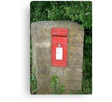 Mailbox in  a stonewall Canvas Print
