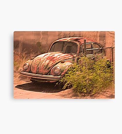 VW rusty-dusty-hot and waiting... 4 U ! Canvas Print