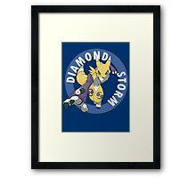 Diamond Storm Framed Print
