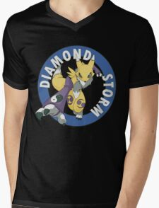 Diamond Storm Mens V-Neck T-Shirt