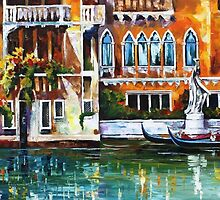 Gondolas Of Venice — Buy Now Link - www.etsy.com/listing/216061289 by Leonid  Afremov