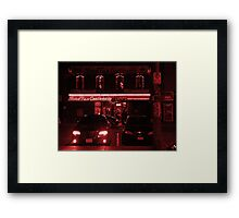 Night Shots: Simply Red Framed Print