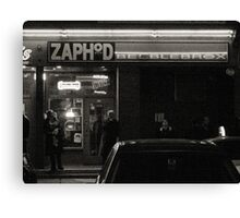Night Shots:  At  Zaphod Beeblebrox's Joint Canvas Print