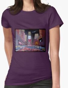 ELVIS in Times Square Womens Fitted T-Shirt