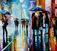Bus Stop — Buy Now Link - www.etsy.com/listing/190011006 by Leonid  Afremov