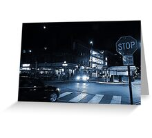 The Byward Market Square at Night Greeting Card