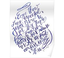 Come Thou Long Expected Jesus Poster