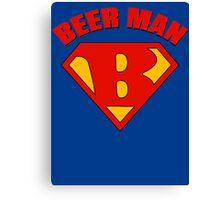 Beer Man Canvas Print