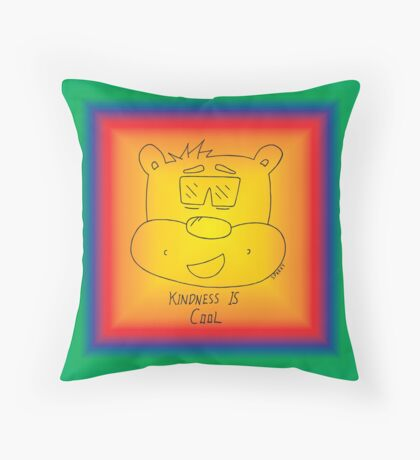 Kindness Is Cool - Rainbow Throw Pillow