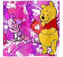 Pooh & Piglet Valentine Poster