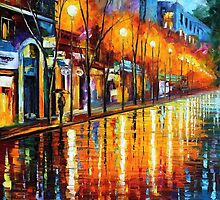 Early Morning In Paris — Buy Now Link - www.etsy.com/listing/216196486 by Leonid  Afremov